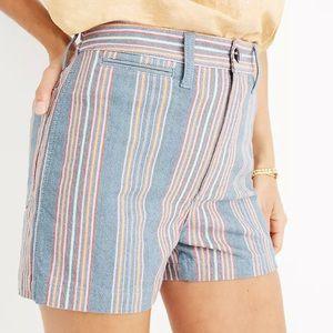 Madewell Rainbow Striped Highwaisted Shorts